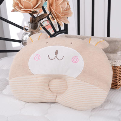 彩棉新生儿定型枕(熊)28*22cm 均码 全棉 纯棉枕头 招代理