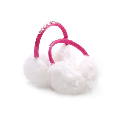 冬季毛茸茸耳罩 白色耳罩均码