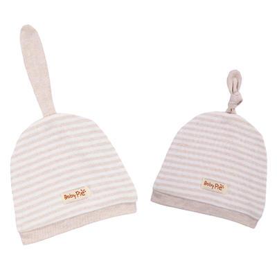 彩棉天线胎帽婴童帽子新生儿纯棉卡通胎帽 免费代理可混批 棕色均码(16*18)