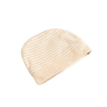 彩棉条纹胎帽婴儿帽子 招代理