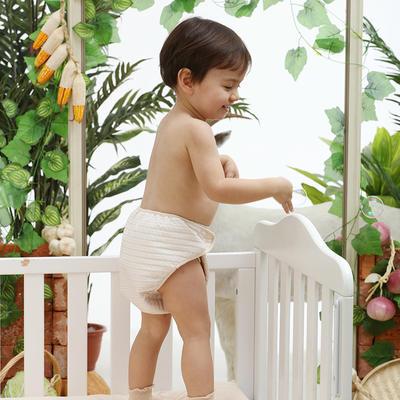 新款有机彩棉空气层隔尿裤 宝宝尿布儿童护理款 招代理 棕色均码
