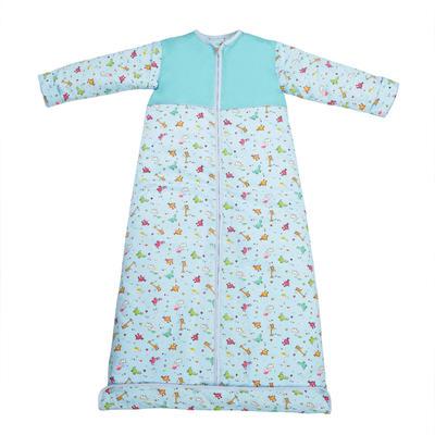 【清仓特价】凯芙兰 长颈鹿睡袋全棉纯棉可脱 春秋150cm(XL) 蓝色