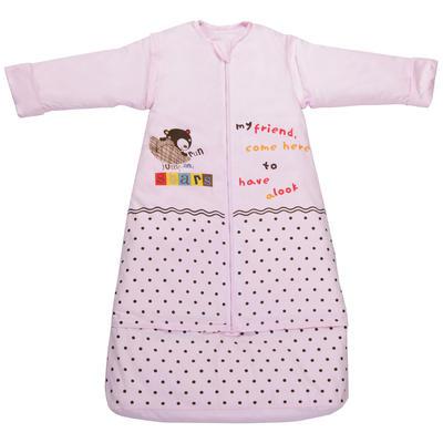 棉花成长型睡袋 可脱棉花胆 【清仓特价】不退不换 厚款S(80+25cm) 粉色