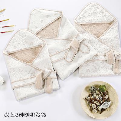 新款彩棉空气层抱被 纯棉抱被 全棉包被 招代理 一件代发 其它 提花棕均码