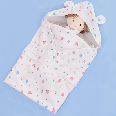 竹纤维纱布抱被 纯棉新生儿婴儿包被免费代理一件代发 73*73 竹纤维纱布抱被