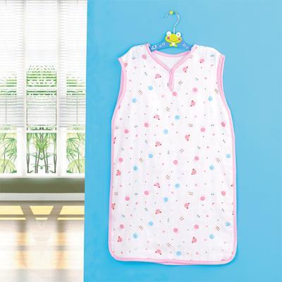 竹纤维纱布背心式睡袋 婴童夏季薄款背心睡袋 招代理 38*68 粉色