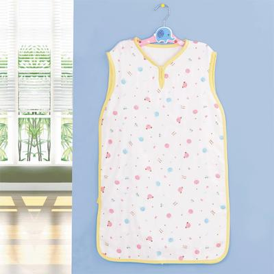 竹纤维纱布背心式睡袋 婴童夏季薄款背心睡袋 招代理 38*68 黄色