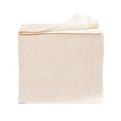 新款婴幼儿新款八层提花纱布盖毯 包邮 免费招代理 115*120cm 米色