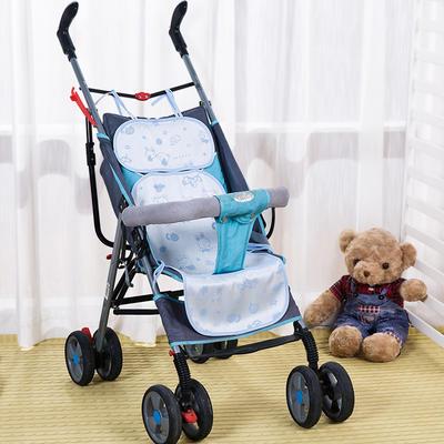 竹纤维推车席/安全座椅席(三段式) 31*75cm(均码) 天空蓝