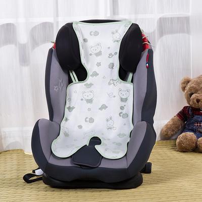 竹纤维五点式推车席 安全座椅席 33*75cm(均码) 竹本绿
