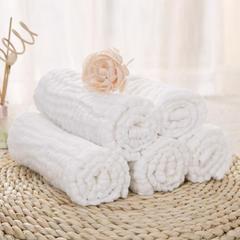 4层水洗纱布多用毛巾/尿布巾(5条/袋) 70*50cm均码 纯棉本白(5条/袋)