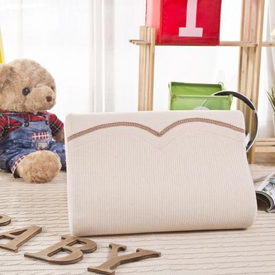 彩棉婴儿记忆枕(高低枕) 儿童枕矫正防偏头枕免费招代理 26*39*7/5cm 棕色