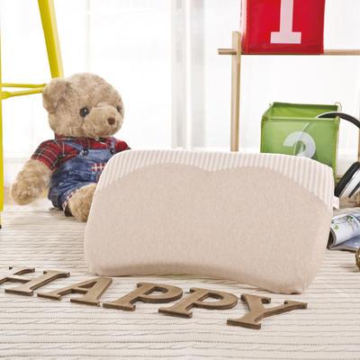 彩棉婴儿记忆枕(弧形枕) 儿童枕头 44*25*3cm 棕色