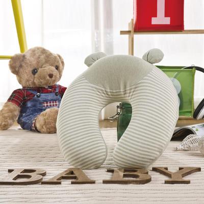 彩棉婴儿记忆枕(凸型枕) 儿童枕头 30*31*12cm 绿