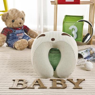 彩棉婴儿记忆枕(圆型颈枕) 儿童枕头 免费招代理 30*31*9cm 绿色