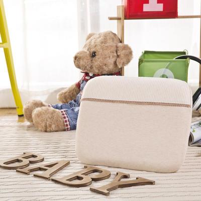 彩棉婴儿打孔乳胶枕 儿童乳胶枕 31*25cm 棕色