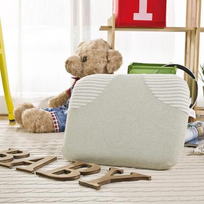 彩棉婴儿打孔乳胶枕 儿童乳胶枕 31*25cm 绿色