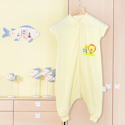 小狮子分腿睡袋(短袖) 115cm(XL) 黄色