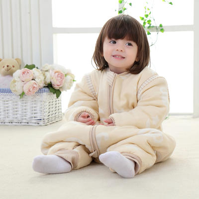 彩棉纱布提花睡袋 婴幼儿睡袋 儿童睡袋 M-70# 梦幻伙伴(短袖)