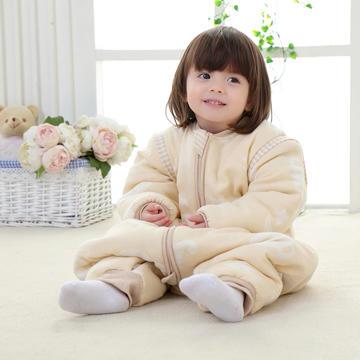 彩棉纱布提花睡袋 婴幼儿睡袋 儿童睡袋