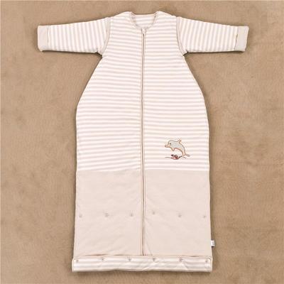 彩新品棉水桶式睡袋(送护肚) 保暖服睡袋 小鲸鱼双层布春秋款S