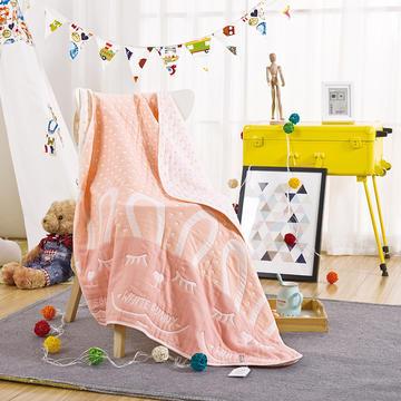 纱布盖毯--五层呆萌兔   新品