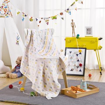 纱布盖毯--五层积木熊   新品