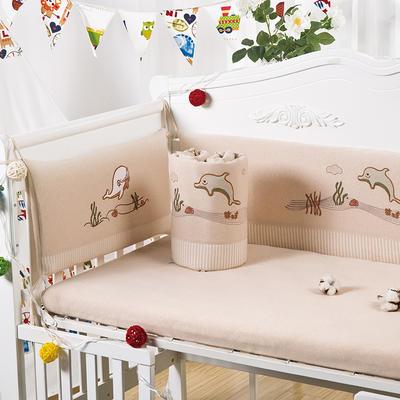 凯芙兰 新款卡通彩棉床围四件套 婴儿床上用品可拆洗幼儿园三件套 60*120cm 海底世界