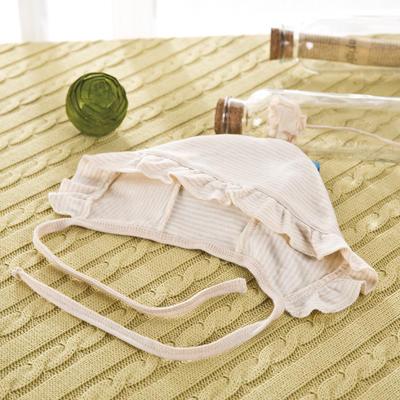 彩棉太阳帽婴童帽子新生儿纯棉卡通胎帽 免费代理可混批 棕色19*15(均码