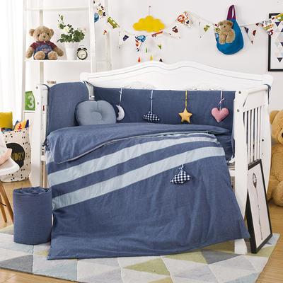 新款上市凯芙兰水洗棉多件套 床围四件套床品多件套可定制 单独被套 心情日记(蓝+灰)