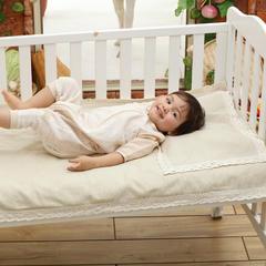 婴童环保棉麻凉席两件套 其它 驼色斜纹