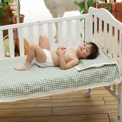 凯芙兰 亚麻凉席两件套(亚麻席子+亚麻枕席)招代理 70*130 小绿方格