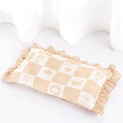 新生儿彩棉三层纱布宝宝定型枕