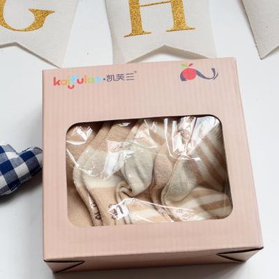 有机彩棉童袜 纯棉新生儿袜子0-1-3岁宝宝 S(新生儿) 彩棉5条礼盒装