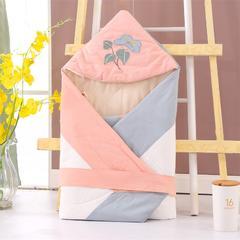 凯芙兰亲肤柔软水洗棉刺绣卡通抱被 其它 牵牛花-粉