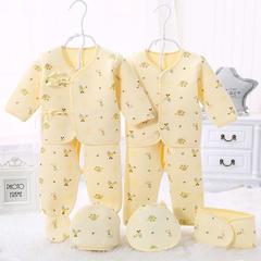 新生儿色底小象保暖7件套 59 浅黄小象