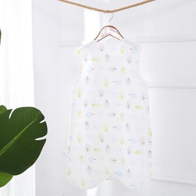凯芙兰新款宝宝卡通纱布睡袋婴儿薄款分腿睡袋夏季 树叶世界 s-60cm