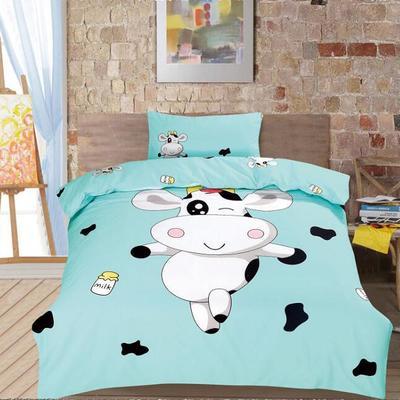 大版花型全棉卡通花型三件套六件套幼儿园三件套 光套子三件套 魔法奶牛