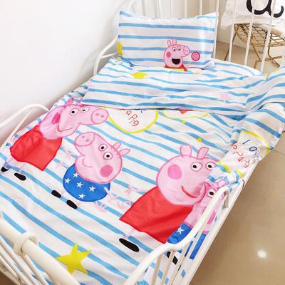 133*72婴儿A类无荧光大版卡通印花套件三件套多件套 小猪 三件套光套子 小猪佩奇白