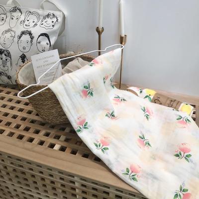 muslin宝宝竹纤维纱布包巾夏季盖毯襁褓巾抱被婴儿被子新生儿用品 花朵