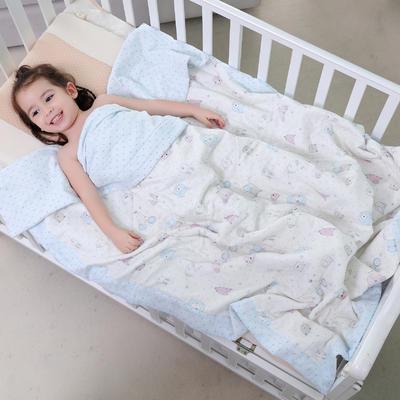 可水洗纱布棉花被子空调被夏季 宝宝夏被 儿童夏被可爱老鼠 1.5m(5英尺)床 可爱老鼠