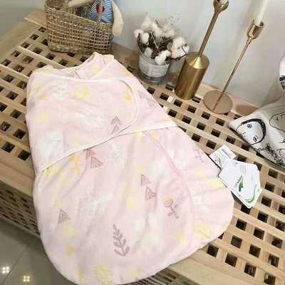 德国恒温棉襁褓新生婴儿防惊跳包巾婴儿裹被宝宝抱被宝宝四季用品 恒温系列代理费 粉鹿