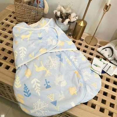 德国恒温棉襁褓新生婴儿防惊跳包巾婴儿裹被宝宝抱被宝宝四季用品 恒温系列代理费 蓝鹿