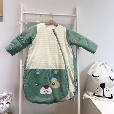 德国恒温婴儿分腿睡袋 儿童防踢被新生儿宝宝睡袋(中厚/加厚)预售 恒温代理费 绿色小猫