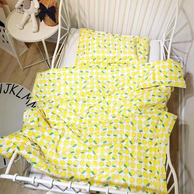 ins风系列13372幼儿园被子套件 幼儿园三件套 多尺寸 不含芯工厂可定制 尺寸1 柠檬