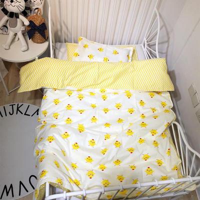 ins风系列13372幼儿园被子套件 幼儿园三件套 多尺寸 不含芯工厂可定制 尺寸1 黄色小鸡