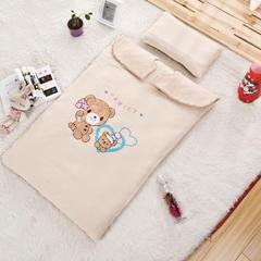 婴儿睡袋儿童宝宝睡袋防踢被婴幼儿睡袋春秋季款 加厚 欢乐巴士 无夹棉套子(S)