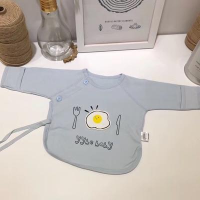 新生儿纯棉针织荷包蛋半背衣 52# 蓝色