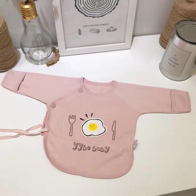 新生儿纯棉针织荷包蛋半背衣 52# 粉色