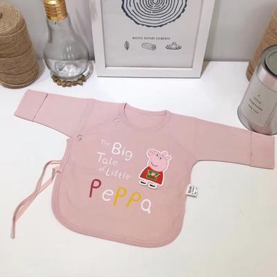 新生儿纯棉针织小猪佩奇半背衣 52# 粉色